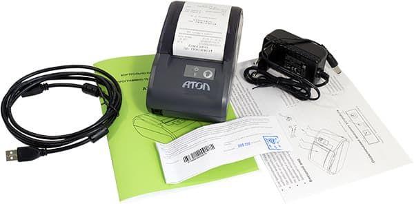 Комплект поставки фискального регистратора АТОЛ 30Ф, фискальный накопитель внтури корпуса