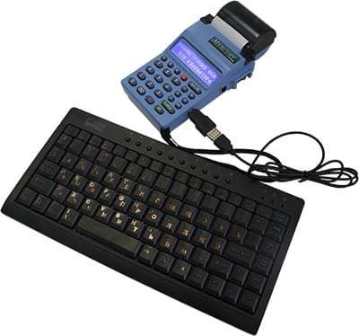 Клавиатура, кодключенная к Меркурий-180Ф через переходник