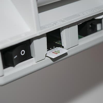 Место установки SIM карты в Меркурий-115Ф