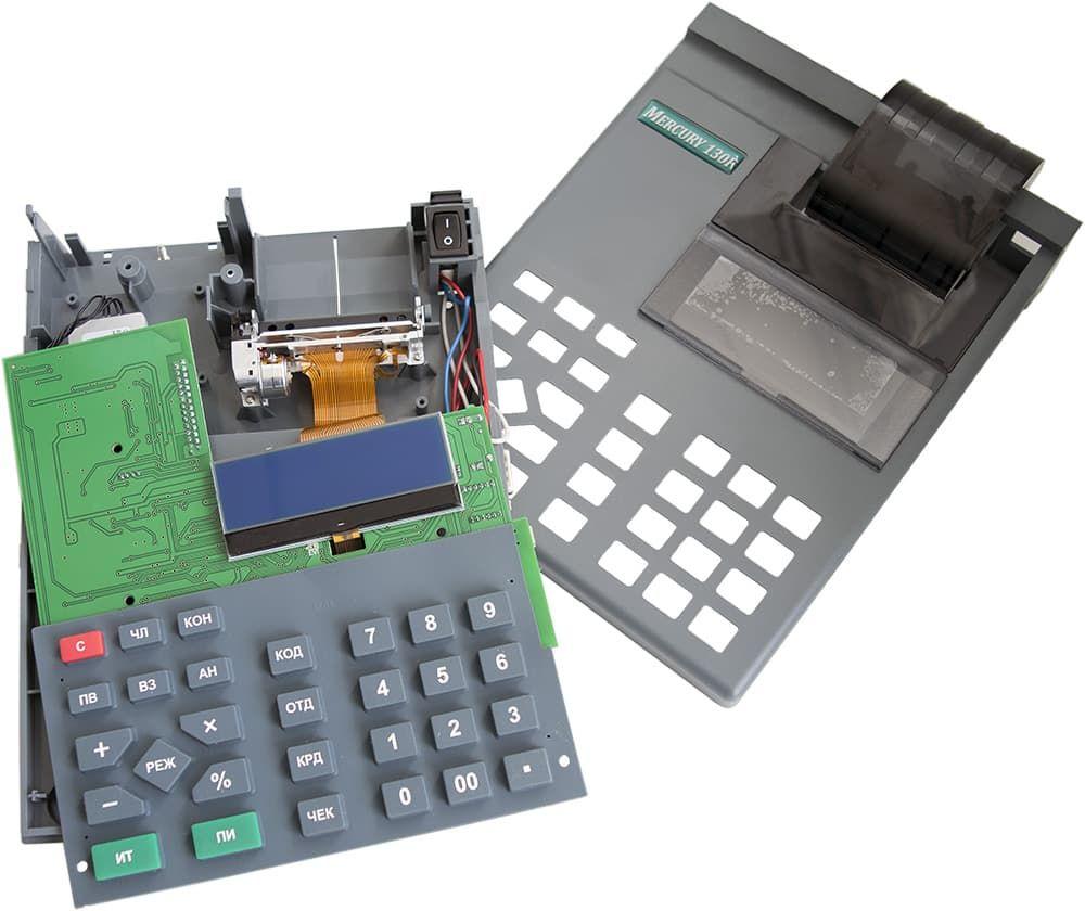 Денежный ящик МИДЛ компакт черный механический PUSH-функция