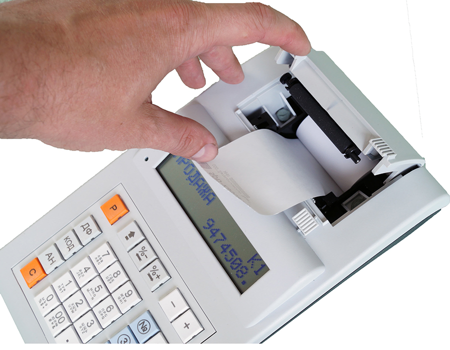 заправка чековой ленты в меркурий