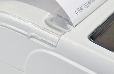 Пионер-114Ф прозрачная крышка позволяет контролировать остаток ленты
