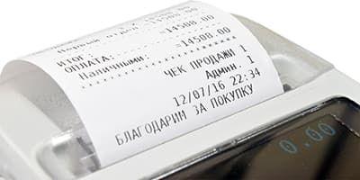 Пионер-114Ф пример распечатанного чека