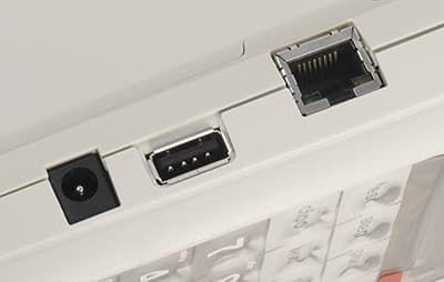 Пионер-114Ф видно разъем для подключения интернет кабеля
