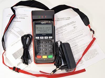FPrint Pay 01, адаптер питания, кабель usb, ремешок и бумаги