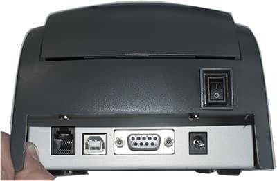 Порты на Viki Print 57Ф: ДЯ, USB, COM и порт питания
